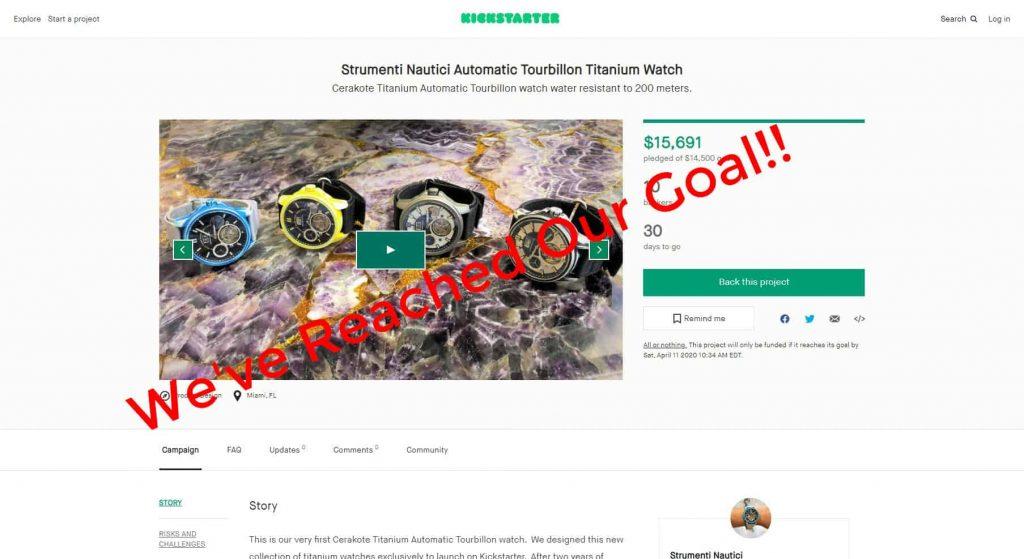 Strumenti Nautici Cerakote Titanium Automatic Tourbillon Watch Kickstarter Funded