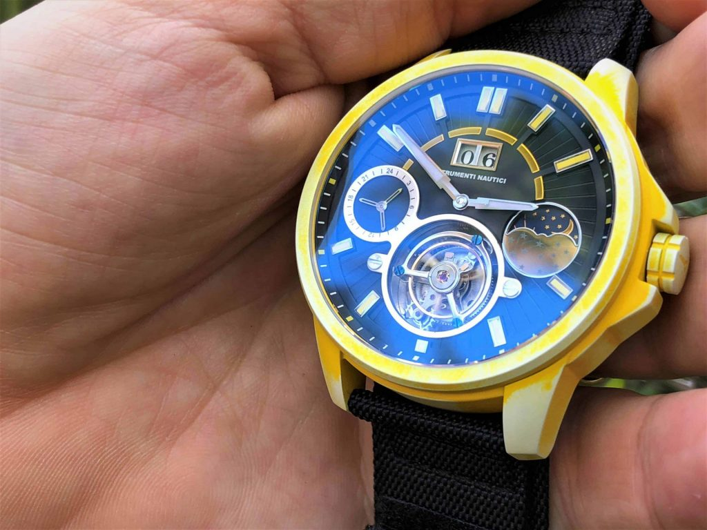 Strumenti Nautici Automatic Tourbillon Yellow Cerakote Titanium Watch